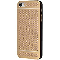 iShield® SE Light with Crystals from Swarovski® Luxus Case for iPhone SE/5/5S Aluminium surface with 328 pcs Crystals from Swarovski® Model: iShield® SE Light Case Luxus Gold-Gold