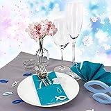 Oblique Unique® Holz Fische Tischstreu Streuartikel Taufe Blau Weiß - Streudeko Verzierung für Taufe, Kommunion und Konfirmation - Echtholz - 3