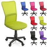 TRESKO Bürostuhl Schreibtischstuhl Drehstuhl, erhätlich in 7 Farbvarianten, mit Kunststoff-Leichtlaufrollen, stufenlos höhenverstellbar, gepolsterte Sitzfläche, ergonomische Passform, Lift SGS-geprüft (Hellgrün)