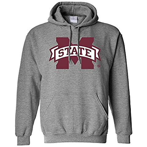 NCAA Mississippi State Bulldogs Long Sleeve Hoodie, X-Large, Athletic Heather
