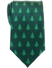 Retreez Árbol de Navidad Patrón Tejido microfibra Hombre Corbata–Varios Colores