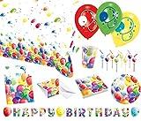Amscan 9050 0312 Party Set Geschirr Ballons