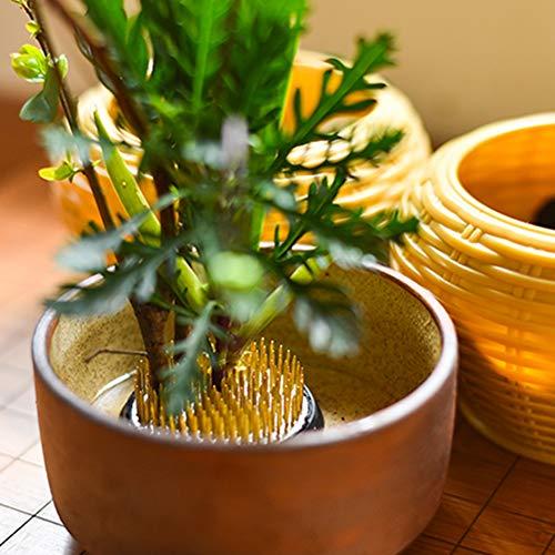74mm Duokon Round Ikebana Kenzan Flower Frog con Guarnizione in Gomma Art Fixed Arranging Tools Alignment Tool per Garden Home Decoration