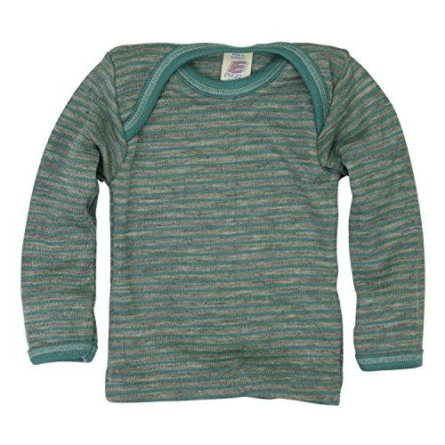 Maglietta baby a manica lunga in lana mista seta
