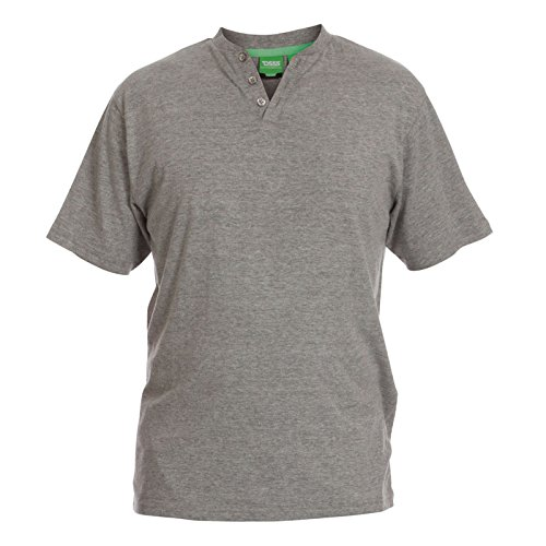 Herren Hausanzug Duke 555 Neu Kingsize Pyjama Pj Set Top Hose Warm Nachtwäsche Grau Meliert