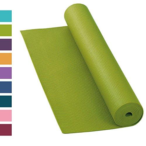 Yogamatte ASANA MAT, 183 x 60cm, 4mm PVC mit ÖKO-TEX 100, gute Yoga-Matte nicht nur für Anfänger, Sticky Mat, Gymnastikmatte, phtalatfrei, schadstofffrei (olive-grün) - Nicht Mat