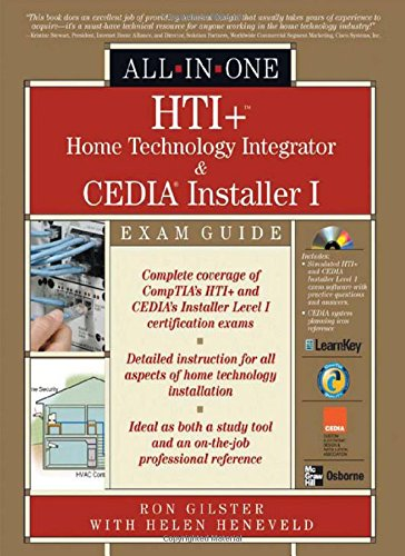 HTI+™ Home Technology Integration and CEDIA® Installer I All-in-One Exam Guide por Ron Gilster