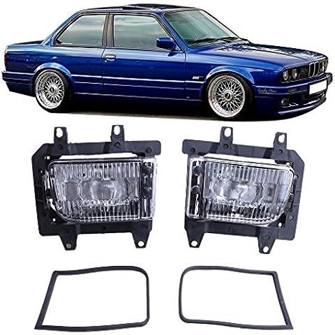 Front Bumper SENGEAR Fog Lights Clear & Staffa destra-sinistra, per BMW 3-serie E30 modello 85-92