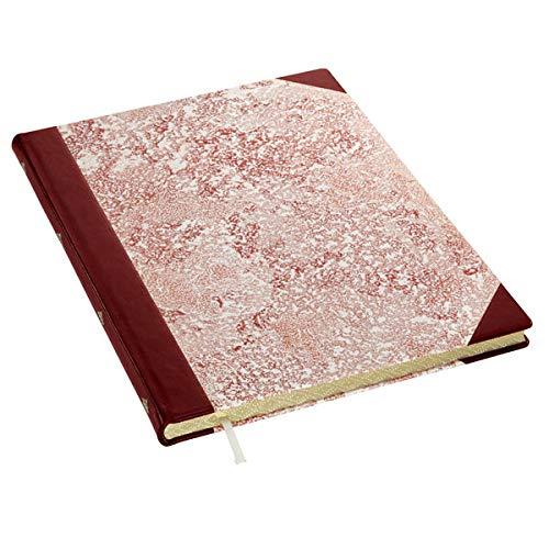 Kreativbuch No. 4 Leder kombiniert, rubin-rot Notizbuch A4
