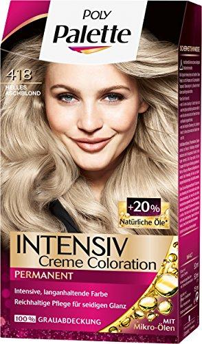 Palette Intensiv Creme Coloration 418 Helles Aschblond Stufe 3, 3er Pack (3 x 115 ml)