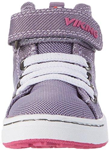 Viking Unisex-Kinder Frogner Kids Mid Outdoor Fitnessschuhe Violett (Grey/Magenta)
