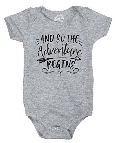 d So The Adventure Begins Creeper Adorable Inspirational Jumpsuit For Newborn -6-12m - Baby-Jungen - 6-12 Months (Wie Man Einen Creeper)