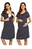 UNibelle Camisón Maternidad Lactancia Pijama Mujer Embarazada Ropa para Dormir Premamá