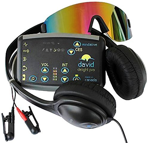 DAVID Delight Pro with Multi-Color Eyeset | Best device for Meditation, Relaxation, Sleep, Mood, Mental Clarity. Increased Academic, Corporate and...