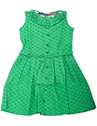 16dcf5953bbd Twist Girls Kids Printed Georgette Casual Frocks Dresses - Floral Print in  Yellow Color with Contrast