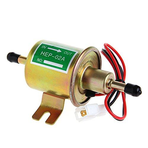 Weishazi 12 V Elektrische Positive Erde Kraftstoffpumpe Facettenzylinder-Stil Auto Van Universal