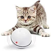 SZSMD Interactive Cat Toy, Smart Rolling Kitten Toys, Automatic Self Rotating Ball Cat Toy with Spinning Led Light, USB Rechargeable Pet Toy for Cat Kitty Exercise Chasing Hunting Playing
