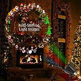 1byone Projektor Licht LED Projektionslampe für Weihnachten Dekoration led Stimmungslicht, Dynamische Auto-Shifting Bilder schaltbar Muster Outdoor/Indoor verwenden, IP65 wasserdicht