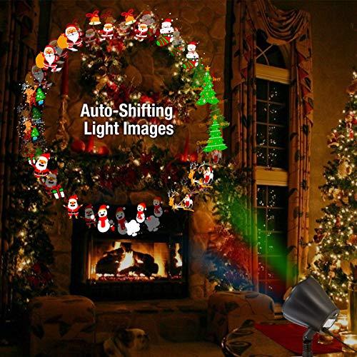 1byone Proiettore Led Natale con Auto-scorrimento delle Immagini Decorative, per Esterno e Interno, Resistenza all'Acqua IP65
