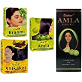 Herbal Brahmi amla shik Akai Powder & haaröl * Veloce crescita dei Capelli Anti forfora/Autunno