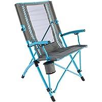Coleman Faltstuhl Bungee Chair mit Stahlgestell zum Relaxen, Gestell in verschiedenen Farben, Armlehnen und Getränkehalter, Transporttasche, bis max. 136 kg
