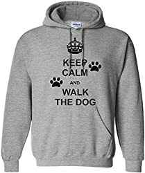 Keep Calm and Walk the Dog Personalised Hoodie, Sizes S-XXL, Various colours