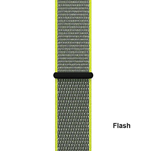 Ersatz-Uhrenarmband SIKAI Sport Armband 22mm Uhrenarmband / Kette / Gurt / Armbänder Nylon Schlaufe Premium Armband und Adapter für Asus ZenWatch 2 und sonstige ( Blitz ,22mm ) (Klettverschluss Ersatz-uhrenarmband)