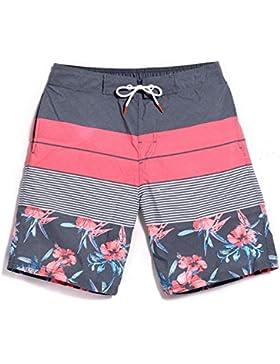 OME&QIUMEI Playa Joven Pantalones Sueltos De Secado Rápido Salón Floral Shorts Y Pantalones De Natación Vacaciones...