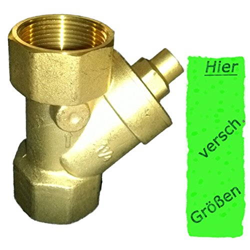 Rückschlagventil 1.25 Zoll (41,7mm) Schrägsitz ---- mit Messingkegel als Rückschlagklappe für Brunnen Saugschlauch Hauswasserwerk Schwengelpumpe Gartenpumpen ------Das Ventil das die Profis nutzen !!