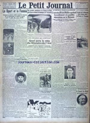 PETIT JOURNAL (LE) [No 23976] du 07/09/1928