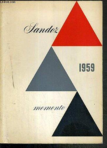 MEMENTO SANDOZ 1959 - NOUVELLE FORME - C...