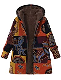 Niña Invierno fashion Abajo chaqueta,Sonnena ❤️ Abrigo de manga larga con capucha mujer talla grande Abrigo con cremallera de piel mullida de algodón moda de invierno Outwear
