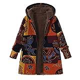 Übergröße Jacke Damen Mode Langarm Mantel Pocket Jacke MYMYG Strickjacke Skin Suits mit Kapuze Reißverschluss Taschen Sport Mantel (Gelb,EU:42/CN-2XL)