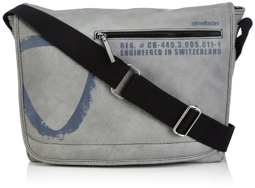 Strellson Paddington cartella a tracolla 38 cm light green Grigio (Grau (light grey 801))