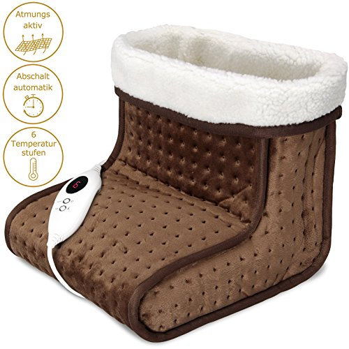 Fußwärmer Fußheizung Fußsack elektrisch Fuß Wärmekissen Wärmesack Fusswärmegerät 6 Heizstufen -