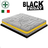 Black Friday - Materasso Matrimoniale Memory a 11 Zone Differenziate MOD. Eolie MyMemory Ortopedico...