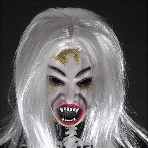 Máscaras espeluznante Horrible Toothy fantasma máscara disfraz de Halloween Prop de látex Halloween máscara mascarada máscaras hombres mujeres