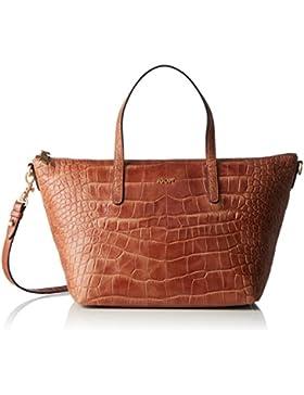 JOOP! Damen Croco Soft Helena Handbag Mhz Henkeltasche, Braun (Brown), 14 x 23 x 40 cm