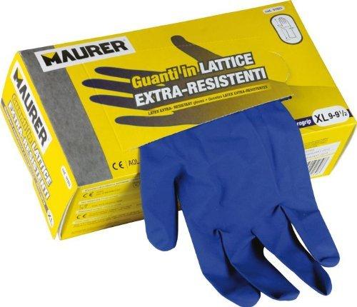 maurer guanti MAURER Guanti in lattice monouso ambidestri Confezione 50 Pz Tg X L Maurer