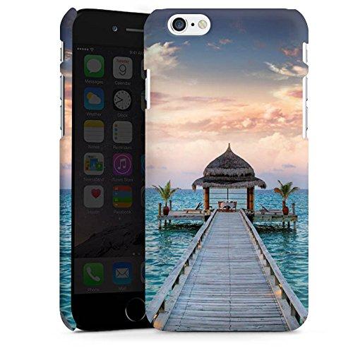 Apple iPhone X Silikon Hülle Case Schutzhülle Steg Urlaub Meer Premium Case matt