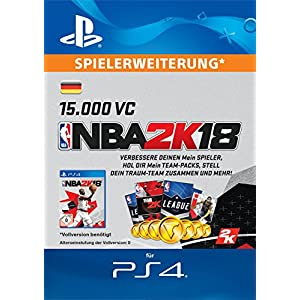 NBA 2k18 15,000 VC-Pack [PS4 Download Code – deutsches Konto]