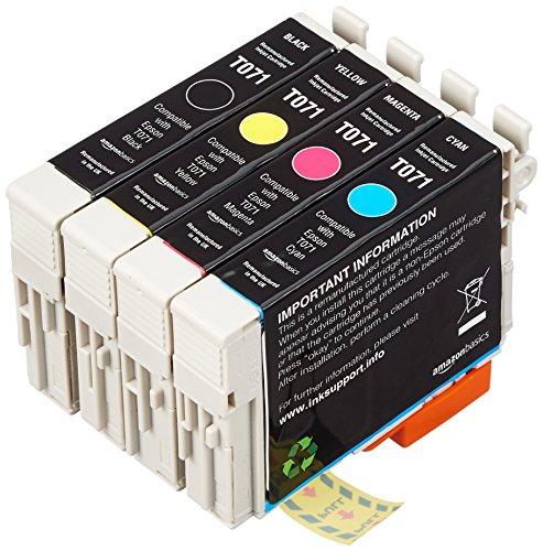 AmazonBasics - Wiederaufbereitete Tintenpatrone für Epson T0715 4-Farben-Multipack