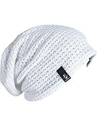 Amazon.es  Blanco - Gorros de punto   Sombreros y gorras  Ropa d4ee9f0f5a5