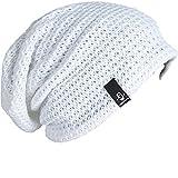 FORBUSITE Beany Mütze Winter Sommer Herren und-Damen-Slouch-Beanie-Mütze-B08(Weiß)