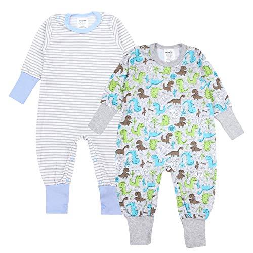 TupTam Baby Jungen Schlafstrampler Gemustert 2er Pack, Farbe: Farbenmix 2, Größe: 86/92