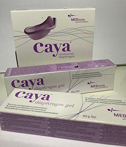 Empfängnisverhütung Frauen Für (Caya Diaphragma mit Twin Pack Caya Gel Combipak)