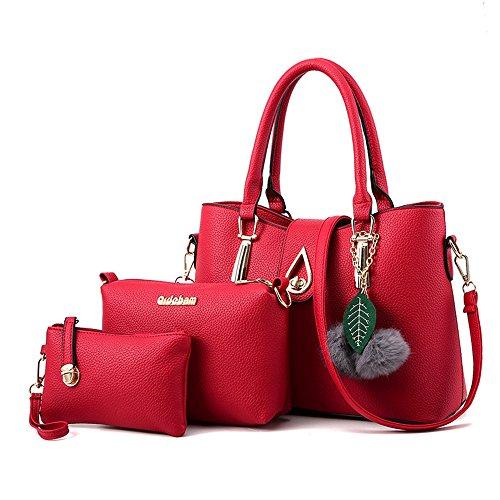 AILEESE Frauen Tote Faux Leder Handtaschen Business Top Handle Schulter Taschen Tasche Kreuz Wallet Geldbörse Tote (Tote Geldbörsen)