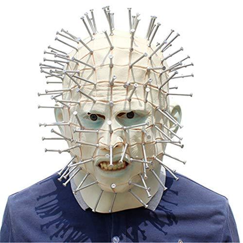 XBSXP Halloween Maske Plastic Nails Mask - Perfekt für Karneval & Halloween - Erwachsenen Kostüm - Latex (Maske Anonymous Wir Sind)