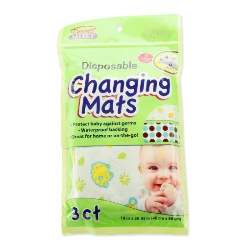 12-Large-Disposable-Baby-Changing-Mats-4-Packs-of-3