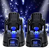 Ridgeyard 2 pcs15W Rot Grün blau DMX LED Moving Head Bühnenbeleuchtung Licht Stage DJ Disco